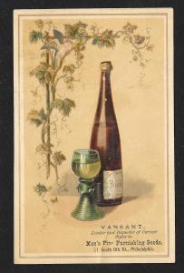 VICTORIAN TRADE CARD Vansant Mens Fine Clothiers
