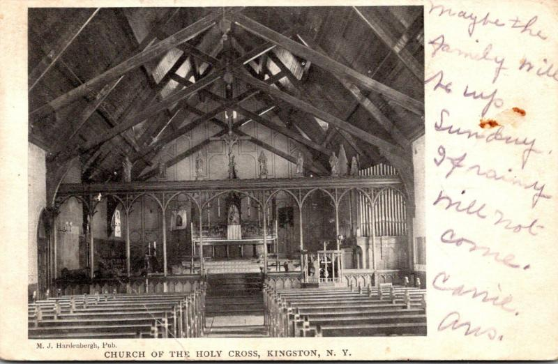 New York Kingston Church Of The Holy Cross Interior 1907