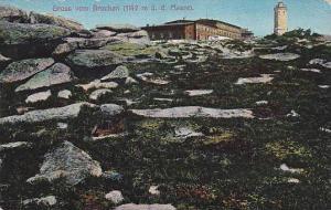 Gruss Vom Brocken (1142 m. u. d. Meere), Lighthouse, Saxony-Anhalt, Germany, ...