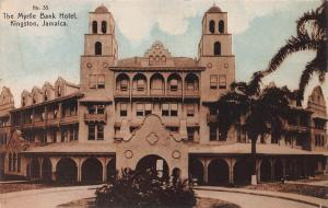 The Myrtle Bank Hotel, Kingston, Jamaica, Early Postcard, Unused