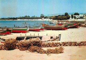Tunisia Postcard Hammamet Golf image rowing boats beach view