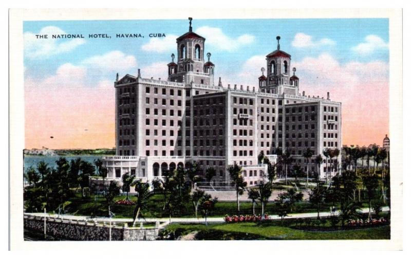 Mid-1900s National Hotel, Havana, Cuba Postcard