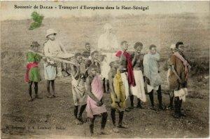 CPA AK Dakar - Transport d'Européens dans le Haut-Sénégal SENEGAL (778365)