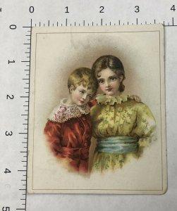 RARE - Trade Card PIX LIQUIDA, COUGH CURE - BOY GIRL  2 CHILDREN