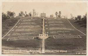 RP, Cherokee , North Carolina, 1930-40s ; Fields of the Wood-10 Commandments