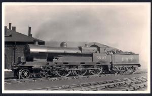 LONDON MIDLAND SCOTTS Railroad Locomotive #5997 RPPC unused