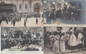 SPAIN ESPAGNE ROYALTY KING ALPHONSE XIII VISITS PARIS IN BOX 180 CPA (1905)