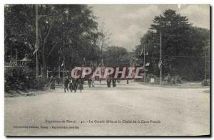 Old Postcard Postcards Nancy Exhibition The large driveway and the cottage po...