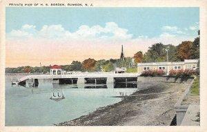 H70/ Rumson New Jersey Postcard c1910 H.S. Borden Home Pier Private 191