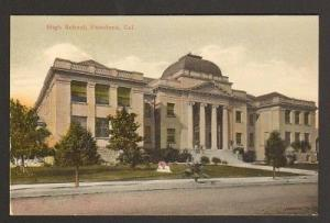 High School Pasadena California 1910c postcard