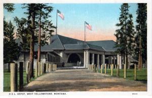 OSL Depot, Yellowstone National Park, 1898-1902