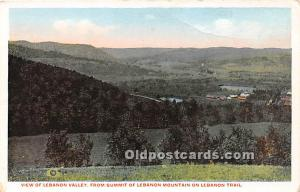 Old Vintage Shaker Post Card From Summit of Lebanon Mountain on Lebanon Trail...