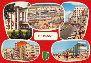 Belgium Greetings from De Panne, Plage Promenade Beach Cars Voitures
