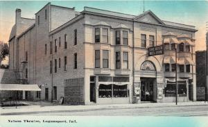 Indiana In Postcard c1910 LOGANSPORT Nelson Theatre Building Entrance
