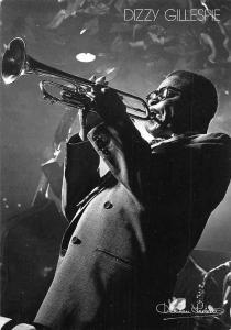 Dizzy Gillespie by Herman Leonard, American bandleader, jazz trumpeter