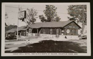 Mint Arkansas Cedar Grill Motel Mountain Home Arkansas Real Picture Postcard