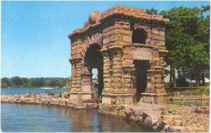 Boldt Castle's Arch of Honor, Heart Island, Thousand Islands pre-zip code Chrome