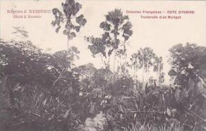 Cote D'Ivoire Ivory Coast Traverse d'un Marigot 1911