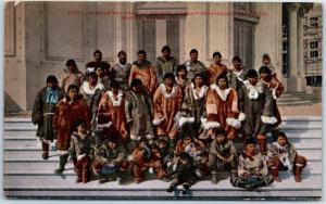 1909 AYPE Seattle World's Fair Postcard ALASKAN & SIBERIAN ESKIMOS - Mitchell
