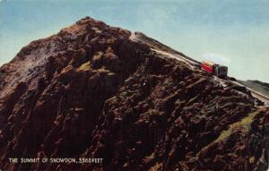 The Summit of Snowdon Tram Postcard