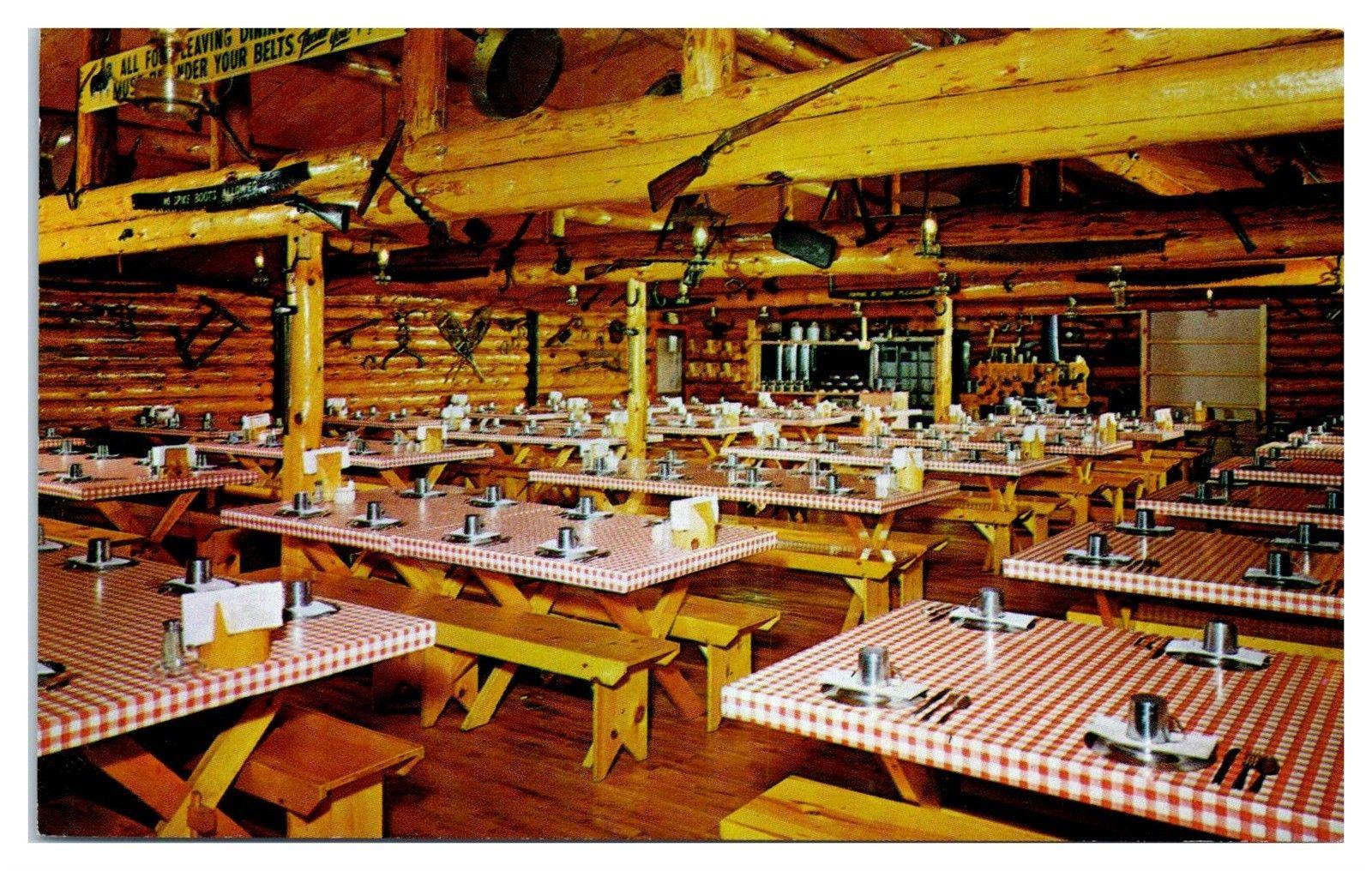 1950s/60s Paul Bunyan Logging Camp Restaurant, Minocqua, WI Postcard