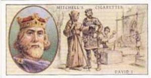 Mitchell Vintage Cigarette Card Famous Scots No 3 David I King Of Scotland 10...