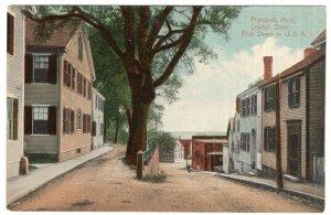 Plymouth, Mass, Leyden Street, First Street in U.S.A.