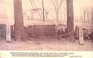 Grave of British Soldiers Concord, Massachusetts