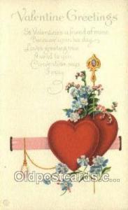 Valentines Day, Old Vintage Antique Postcard Post Card