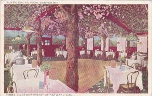 California Hayward Canyon Inn Interior Rustic Dining Room