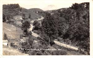 Cumberland Maryland~Farms 6 Miles East~Barns~US Route 40~Nat'l Highway~1941 RPPC