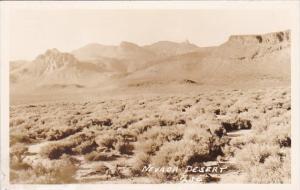 Nevada Desert Scene Real Photo