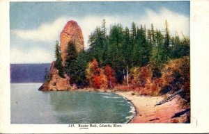 Washington Rooster Rock On Columbia River