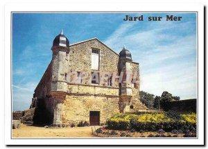 Postcard Modern Jard sur Mer Vendee Abbey Place God