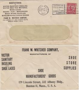 BOSTON MA - FRANK W WHITCHER CO - Victor Shoes + . 1931 COVER + ADVERTISEMENT