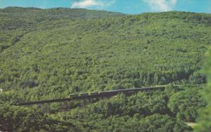 Train crossing beautiful BELLEVUE VALLEY north of Sault Ste. Marie, Algoma Ce...