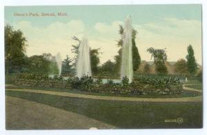 D/B Fountains in Owens Park Detroit Michigan MI