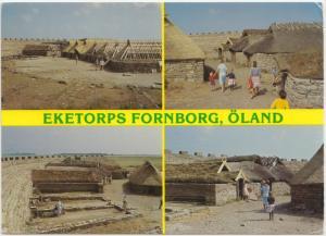 EKETORPS FORNBORG, OLAND, Sweden, multi view, used Postcard