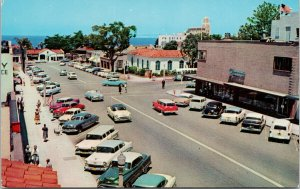 La Jolla CA Girard Avenue Old Cars Unused Vintage Postcard F38