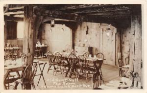 F21/ Kennebunkport Maine RPPC Postcard 1949 interior Old Grist Mill