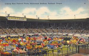 Portland Oregon~Multnomah Stadium Crowd Judges Rose Festival Floats~c1950 Linen