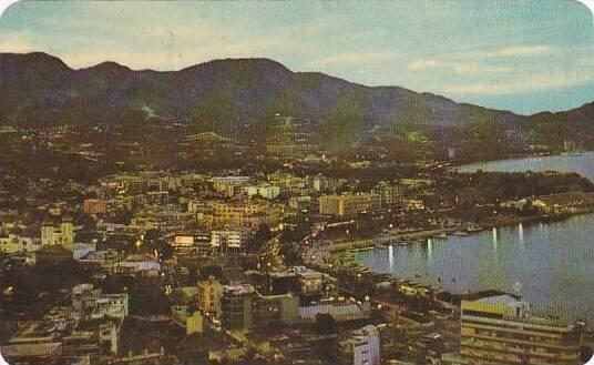 Mexico Acapulco Night View 1962