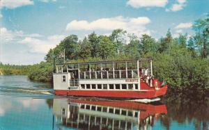 Hulbert Boat, Taquamenon River of Hiawatha fame, Michigan, PU-1958