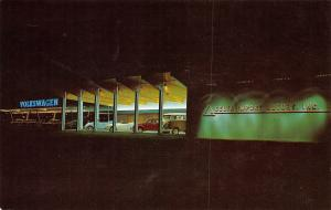 La Crescent MN Delta Motors Volkswagen Dealer~Same on Outside~Neon Night 1964