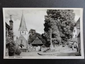 Surrey SHERE Church & Memorial - Old RP Postcard by T.A. Wilkie of Gomshall