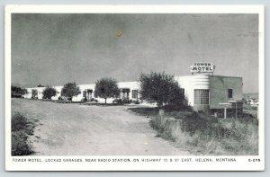 Helena Montana~Tower Motel~Near Radio Station~ART DECO Architecture~1940s B&W PC