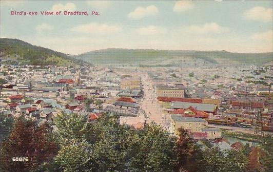 Pennsylvania Birds Eye View Of Bradford