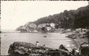babbacombe beach torquay tourists epoque view