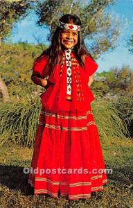 Apache Indian Girl, San Carlos Reservation, Arizona, USA Indian Unused