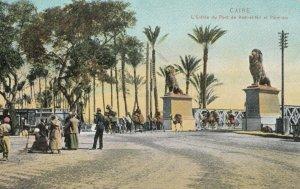 CAIRO , Egypt , 1900-1910´s ; L'Entree du Pont de Kasr-el-Nil et Palmers
